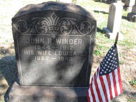 WINDER, JOHN - Mercer County, New Jersey | JOHN WINDER - New Jersey Gravestone Photos