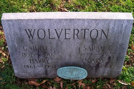 WOLVERTON,SR., GABRIEL - Mercer County, New Jersey | GABRIEL WOLVERTON,SR. - New Jersey Gravestone Photos