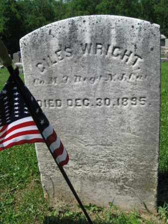 WRIGHT, GILES - Mercer County, New Jersey | GILES WRIGHT - New Jersey Gravestone Photos