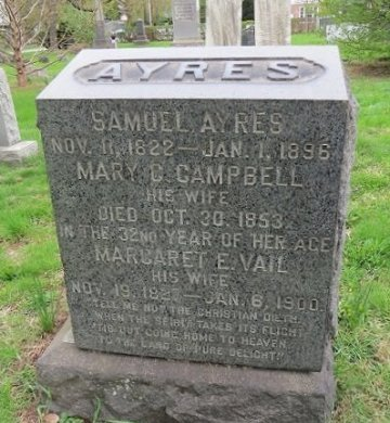 AYERS (AYARS), SAMUEL - Middlesex County, New Jersey | SAMUEL AYERS (AYARS) - New Jersey Gravestone Photos