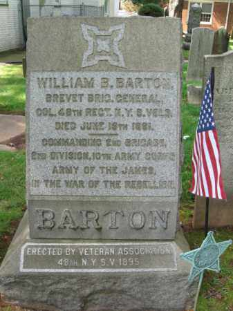 BARTON, BVT.BRIG.GEN.WILLIAM B. - Middlesex County, New Jersey | BVT.BRIG.GEN.WILLIAM B. BARTON - New Jersey Gravestone Photos