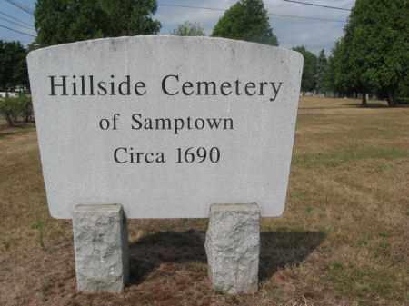 CEMETERY SIGN, HILLSIDE CEMETERY OF SAMPTOWN - Middlesex County, New Jersey | HILLSIDE CEMETERY OF SAMPTOWN CEMETERY SIGN - New Jersey Gravestone Photos