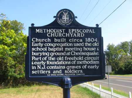 CEMETERY SIGN, METHODIST EPISCOPAL - Middlesex County, New Jersey | METHODIST EPISCOPAL CEMETERY SIGN - New Jersey Gravestone Photos