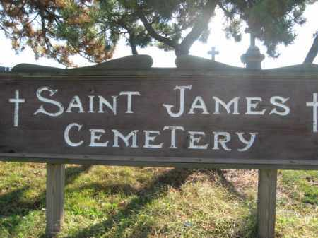 CEMETERY SIGN, SAINT JAMES - Middlesex County, New Jersey | SAINT JAMES CEMETERY SIGN - New Jersey Gravestone Photos