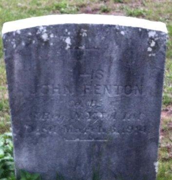 FENTON, JOHN - Middlesex County, New Jersey   JOHN FENTON - New Jersey Gravestone Photos