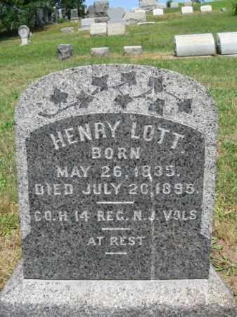 LOTT, HENRY - Middlesex County, New Jersey | HENRY LOTT - New Jersey Gravestone Photos