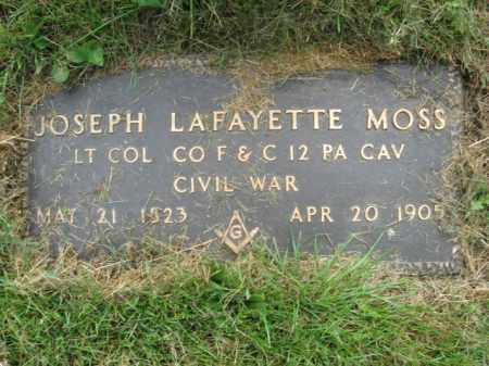 MOSS, LT.COL. JOSEPH LAFAYETTE - Middlesex County, New Jersey | LT.COL. JOSEPH LAFAYETTE MOSS - New Jersey Gravestone Photos