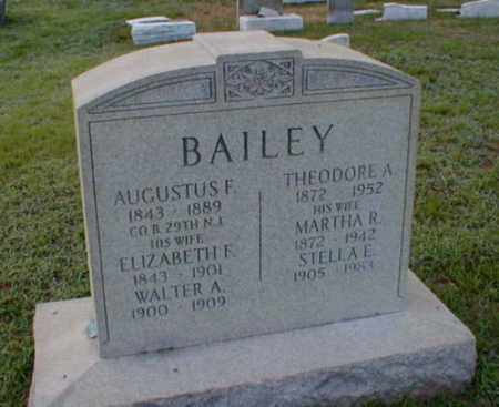 BAILEY, AUGUSTUS F. - Monmouth County, New Jersey | AUGUSTUS F. BAILEY - New Jersey Gravestone Photos