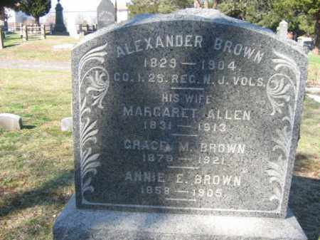 BROWN, ALEXANDER - Monmouth County, New Jersey | ALEXANDER BROWN - New Jersey Gravestone Photos