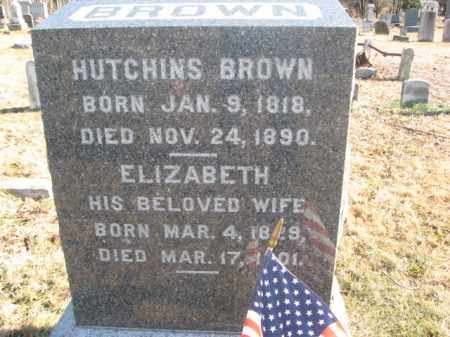 BROWN, HUTCHINS - Monmouth County, New Jersey | HUTCHINS BROWN - New Jersey Gravestone Photos