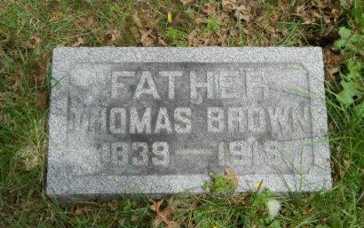 BROWN, THOMAS - Monmouth County, New Jersey | THOMAS BROWN - New Jersey Gravestone Photos
