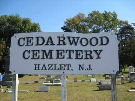 CEMETERY SIGN, CEDARWOOD - Monmouth County, New Jersey   CEDARWOOD CEMETERY SIGN - New Jersey Gravestone Photos