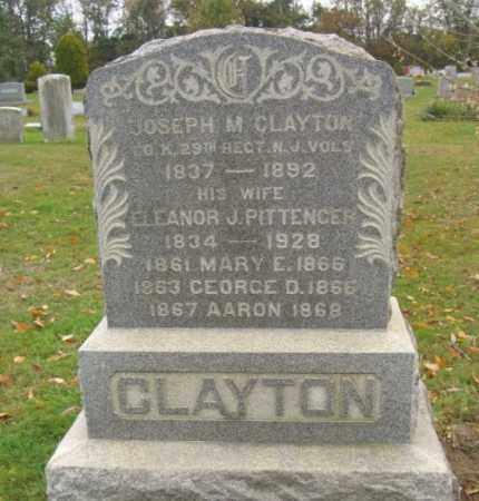 CLAYTON, JOSEPH M. - Monmouth County, New Jersey   JOSEPH M. CLAYTON - New Jersey Gravestone Photos
