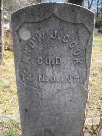 COOK, ANDREW J. - Monmouth County, New Jersey | ANDREW J. COOK - New Jersey Gravestone Photos