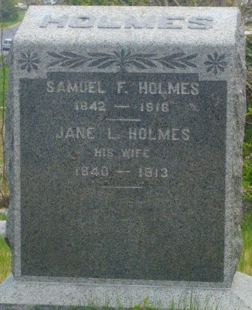 HOLMES, SAMUEL F. - Monmouth County, New Jersey | SAMUEL F. HOLMES - New Jersey Gravestone Photos