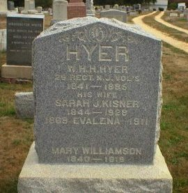 HYER, WILLIAM H. HARRISON - Monmouth County, New Jersey | WILLIAM H. HARRISON HYER - New Jersey Gravestone Photos