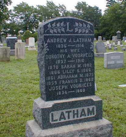 LATHAM, ANDREW J. - Monmouth County, New Jersey | ANDREW J. LATHAM - New Jersey Gravestone Photos