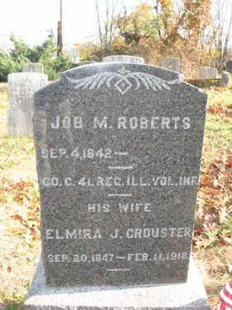 ROBERTS, JOB M. - Monmouth County, New Jersey   JOB M. ROBERTS - New Jersey Gravestone Photos