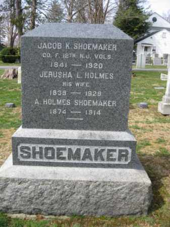 SHOEMAKER, JACOB K. - Monmouth County, New Jersey | JACOB K. SHOEMAKER - New Jersey Gravestone Photos