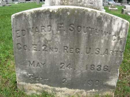 SOUTHWICK, EDWARD F. - Monmouth County, New Jersey | EDWARD F. SOUTHWICK - New Jersey Gravestone Photos
