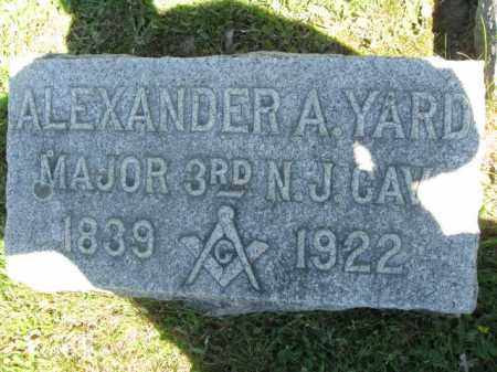 YARD, ALEXANDER A. - Monmouth County, New Jersey   ALEXANDER A. YARD - New Jersey Gravestone Photos