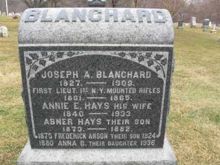 BLANCHARD, JOSEPH A. - Morris County, New Jersey   JOSEPH A. BLANCHARD - New Jersey Gravestone Photos
