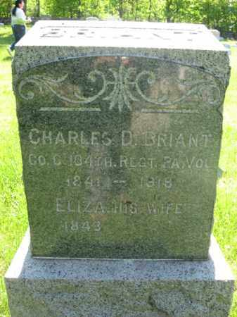 BRIANT, CHARLES D. - Morris County, New Jersey | CHARLES D. BRIANT - New Jersey Gravestone Photos