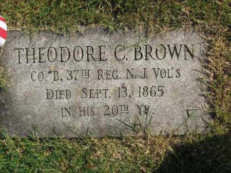 BROWN, THEODORE C. - Morris County, New Jersey | THEODORE C. BROWN - New Jersey Gravestone Photos