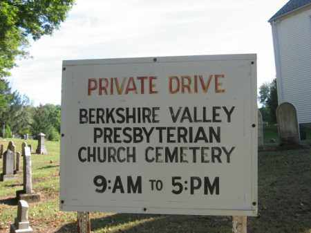 CEMETERY SIGN, BERKSHIRE VALLEY PRESBYTERIAN - Morris County, New Jersey | BERKSHIRE VALLEY PRESBYTERIAN CEMETERY SIGN - New Jersey Gravestone Photos