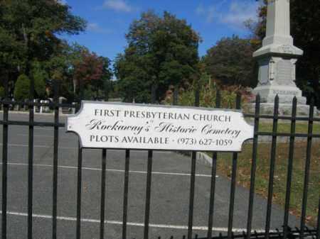 CEMETERY SIGN, FIRST PRESBYTERIAN CHURCH - Morris County, New Jersey | FIRST PRESBYTERIAN CHURCH CEMETERY SIGN - New Jersey Gravestone Photos