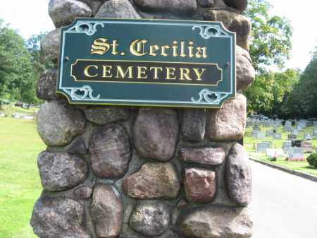 CEMETERY SIGN, ST.CECILIA - Morris County, New Jersey | ST.CECILIA CEMETERY SIGN - New Jersey Gravestone Photos