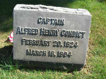 CONDICT, CAPT. ALFRED HENRY - Morris County, New Jersey | CAPT. ALFRED HENRY CONDICT - New Jersey Gravestone Photos