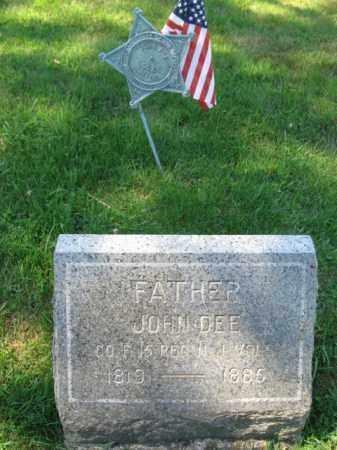DEE, JOHN - Morris County, New Jersey   JOHN DEE - New Jersey Gravestone Photos