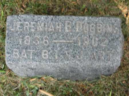 DOBBINS, JEREMIAH   B. - Morris County, New Jersey   JEREMIAH   B. DOBBINS - New Jersey Gravestone Photos