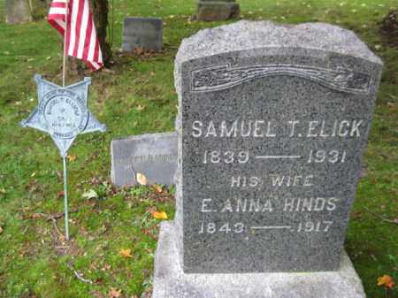 ELICK (ELLIACKS), SAMUEL T. - Morris County, New Jersey | SAMUEL T. ELICK (ELLIACKS) - New Jersey Gravestone Photos