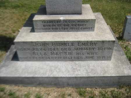 EMERY, JOHN RUNKLE - Morris County, New Jersey   JOHN RUNKLE EMERY - New Jersey Gravestone Photos
