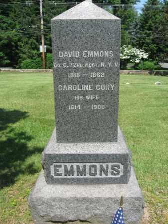 EMMONS, DAVID - Morris County, New Jersey   DAVID EMMONS - New Jersey Gravestone Photos
