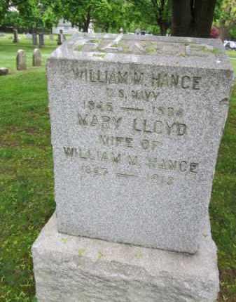 HANCE, WILLIAM - Morris County, New Jersey | WILLIAM HANCE - New Jersey Gravestone Photos