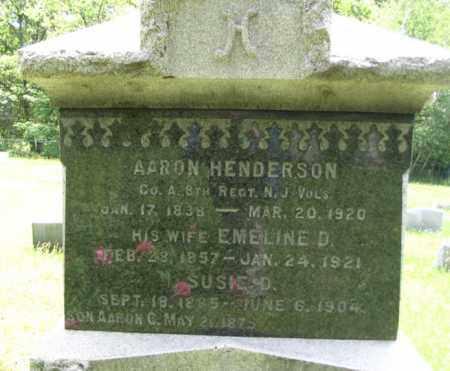 HENDERSON, AARON - Morris County, New Jersey | AARON HENDERSON - New Jersey Gravestone Photos