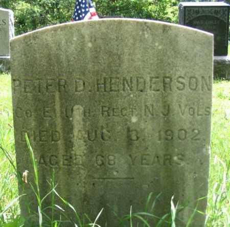 HENDERSON, PETER D. - Morris County, New Jersey   PETER D. HENDERSON - New Jersey Gravestone Photos