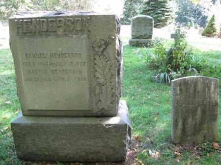 HENDERSON, SAMUEL M. - Morris County, New Jersey | SAMUEL M. HENDERSON - New Jersey Gravestone Photos