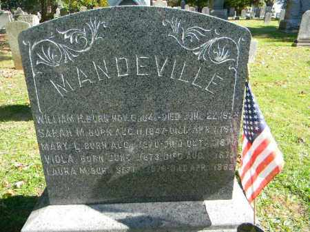 MANDEVILLE, WILLIAM H. - Morris County, New Jersey | WILLIAM H. MANDEVILLE - New Jersey Gravestone Photos