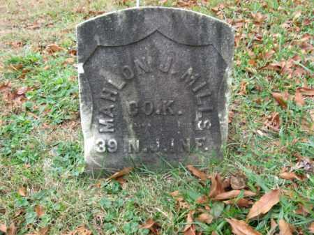 MILLS, MAHLON J. - Morris County, New Jersey | MAHLON J. MILLS - New Jersey Gravestone Photos