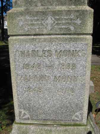 MONKS, CHARLES - Morris County, New Jersey | CHARLES MONKS - New Jersey Gravestone Photos