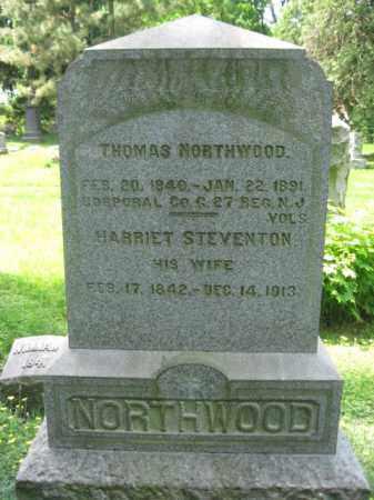 NORTHWOOD, CORP.THOMAS - Morris County, New Jersey | CORP.THOMAS NORTHWOOD - New Jersey Gravestone Photos