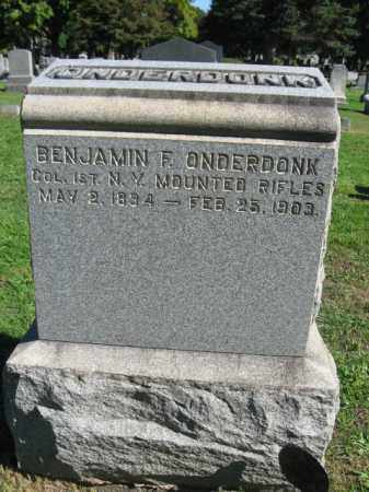 ONDERDONK, BENJAMIN F. - Morris County, New Jersey | BENJAMIN F. ONDERDONK - New Jersey Gravestone Photos