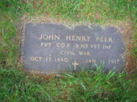 PEER, JOHN HENRY - Morris County, New Jersey | JOHN HENRY PEER - New Jersey Gravestone Photos
