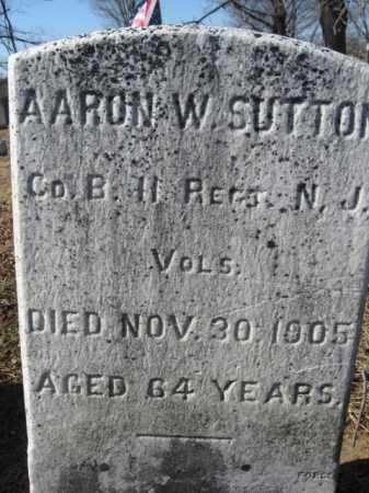 SUTTON, AARON W. - Morris County, New Jersey | AARON W. SUTTON - New Jersey Gravestone Photos