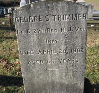 TRIMMER, GEORGE S. - Morris County, New Jersey | GEORGE S. TRIMMER - New Jersey Gravestone Photos