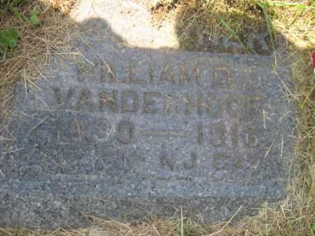 VANDERHOOF, WILLIAM D. - Morris County, New Jersey   WILLIAM D. VANDERHOOF - New Jersey Gravestone Photos